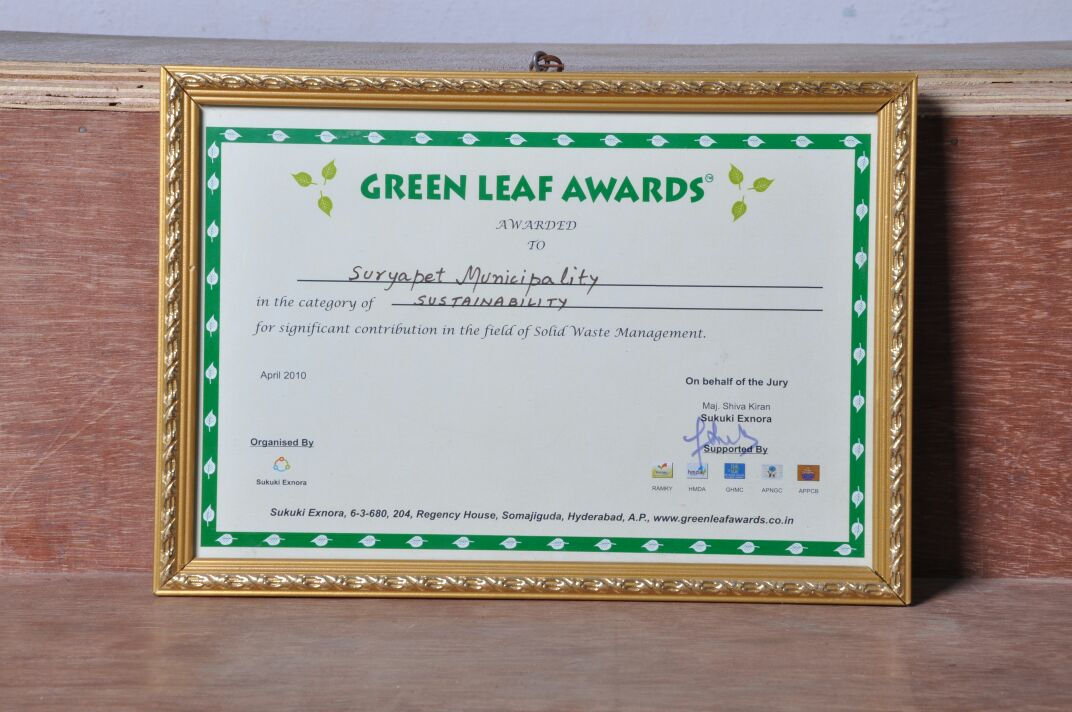 Receiving Green Leaf Award