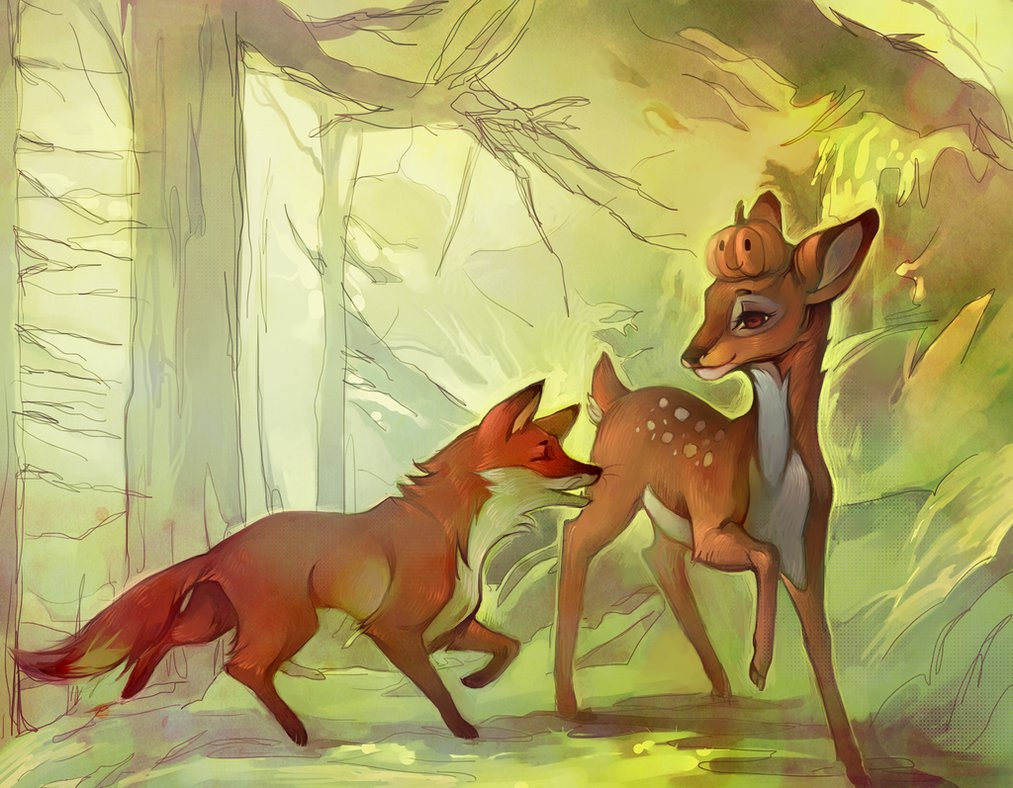 Modern Panchatantra story of fox and deer
