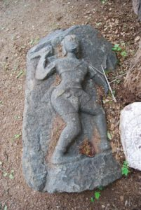 The sculpture of woman warrior
