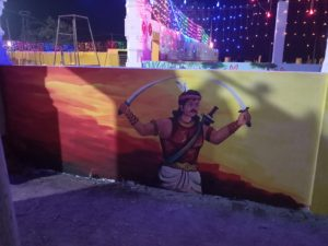 Sammakka sarakka wall art by Ramagundam municipal corporation